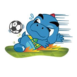 สติ๊กเกอร์ไลน์ชุด Godji Football Fever