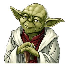 สติ๊กเกอร์ไลน์ชุด Star Wars: Yoda Collection