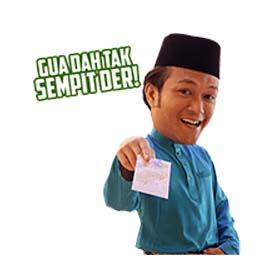 สติ๊กเกอร์ไลน์ชุด Adnan Sempit