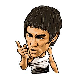 สติ๊กเกอร์ไลน์ชุด Bruce Lee