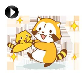 สติ๊กเกอร์ไลน์ชุด Happy RASCAL Animated Stickers
