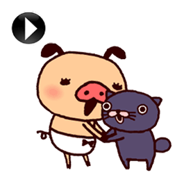 สติ๊กเกอร์ไลน์ชุด PANPAKA PANTS - Animated Stickers