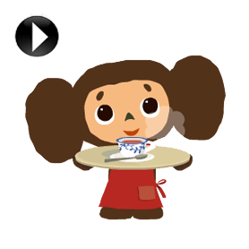 สติ๊กเกอร์ไลน์ชุด Cheburashka: Animated Stickers