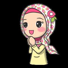 สติ๊กเกอร์ไลน์ชุด Flower Hijab