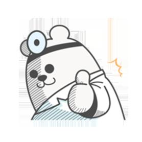 สติ๊กเกอร์ไลน์ชุด Shiropy the Polar Bear Doctor Moves!
