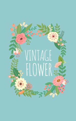 สติ๊กเกอร์ไลน์ชุด ธีม Vintage Flower (ธีมวินเทจ)