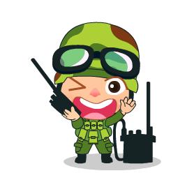 สติ๊กเกอร์ไลน์ชุด Khwam Suk's Army cosplay costume