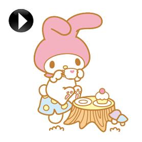 สติ๊กเกอร์ไลน์ชุด My Melody Animated Stickers