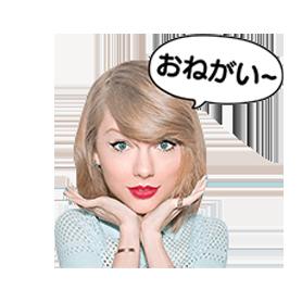 สติ๊กเกอร์ไลน์ชุด Taylor Swift