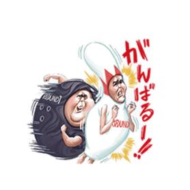 สติ๊กเกอร์ไลน์ชุด Go Go Rauone-san! Vol.2