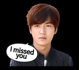 สติ๊กเกอร์ไลน์ ลีมินโฮ Lee Min Ho I missed you