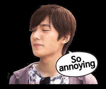 สติ๊กเกอร์ไลน์ ลีมินโฮ Lee Min Ho So annoying