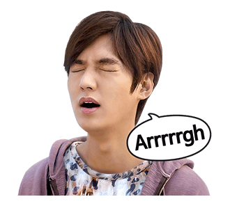 สติ๊กเกอร์ไลน์ ลีมินโฮ Lee Min Ho Arrrrgh