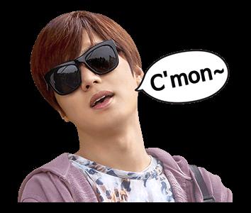 สติ๊กเกอร์ไลน์ ลีมินโฮ Lee Min Ho C\'mon
