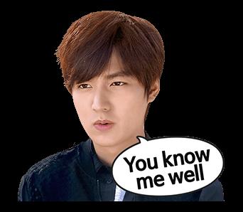 สติ๊กเกอร์ไลน์ ลีมินโฮ Lee Min Ho You know me well