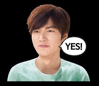 สติ๊กเกอร์ไลน์ ลีมินโฮ Lee Min Ho YES