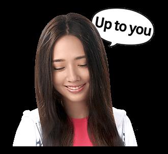 สติ๊กเกอร์ หลิงหลิง Ling Ling Up to you