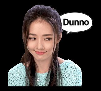 สติ๊กเกอร์ หลิงหลิง Ling Ling Dunno
