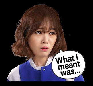 สติ๊กเกอร์ Kim Bo Mi What meant was..