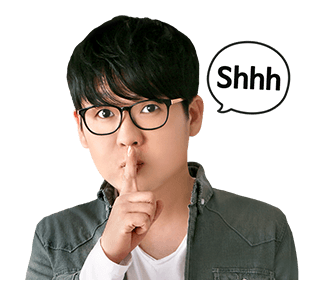 สติ๊กเกอร์ Kim Kang Hyun Shhh