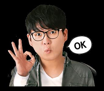 สติ๊กเกอร์ Kim Kang Hyun OK!