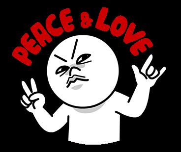 Sticker Moon Peace & Love