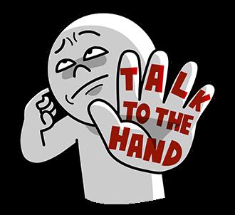 Sticker Moon Talk to the hand