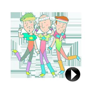 สติ๊กเกอร์ไลน์ชุด Animated Uki Uki Aerobics