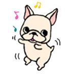 สติ๊กเกอร์น้องหมา French Bulldog เต้นดุ๊กดิ๊ก