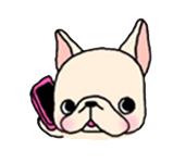 สติ๊กเกอร์น้องหมา French Bulldog โทรศัพท์