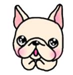 สติ๊กเกอร์น้องหมา French Bulldog อ้อน