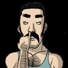 สติ๊กเกอร์ไลน์ชุด Franky สติ๊กเกอร์หนุ่มนักกล้าม