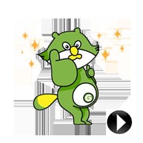 สติ๊กเกอร์ไลน์ชุด Animated Pon-suke,the Coupon Supporter