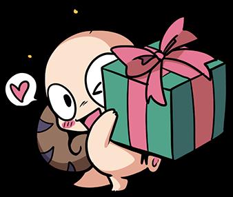 หอยทากน่ารัก สึมุริง มอบของขวัญ
