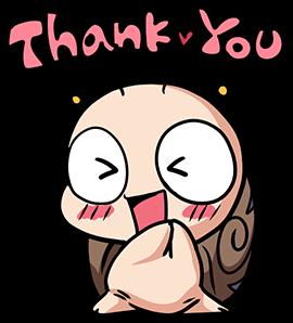 หอยทากน่ารัก สึมุริง ขอบคุณ