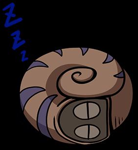 หอยทากน่ารัก สึมุริง นอนหลับ