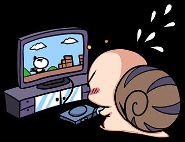 หอยทากน่ารัก สึมุริง เล่นเกม
