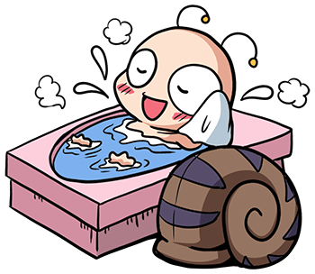 หอยทากน่ารัก สึมุริง อาบน้ำ