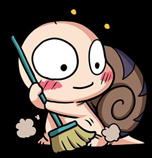 หอยทากน่ารัก สึมุริง ทำความสะอาด
