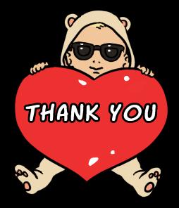 Sticker Sunglasses Baby Thank You