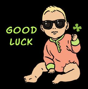 Sticker Sunglasses Baby Good Luck