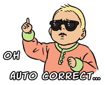 Sticker Sunglasses Baby  Oh Auto Correct