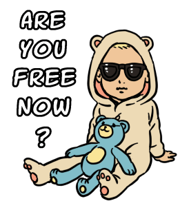Sticker Sunglasses Baby Are you free now?