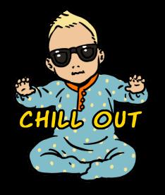 Sticker Sunglasses Baby ผ่อนคลาย