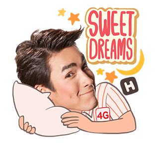 สติกเกอร์ไลน์ Lovely Nadech by TrueMove H Sweet Dreams