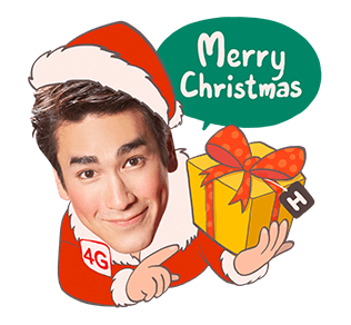 สติกเกอร์ไลน์ Lovely Nadech by TrueMove H Merry Christmas