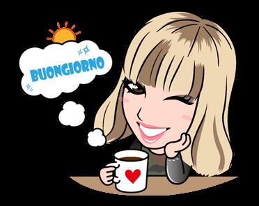 สติกเอร์ไลน์ Emma Marrone Buongiorno