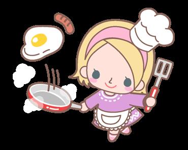 สติกเอร์ไลน์ La Pina ทำอาหาร