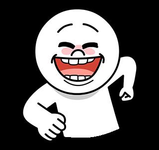 สติกเกอร์ไลน์  Moon Funny Face ทำท่าทางขำๆ