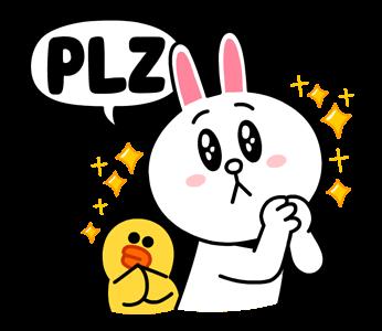 สติกเกอร์ไลน์  LINE characters  Love U  Cony & Sally ได้โปรดเถอะ